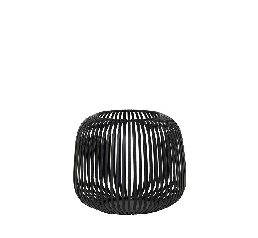 LITO Linterna / linterna acero negro Ø20.5 cm (65931) Pequeño