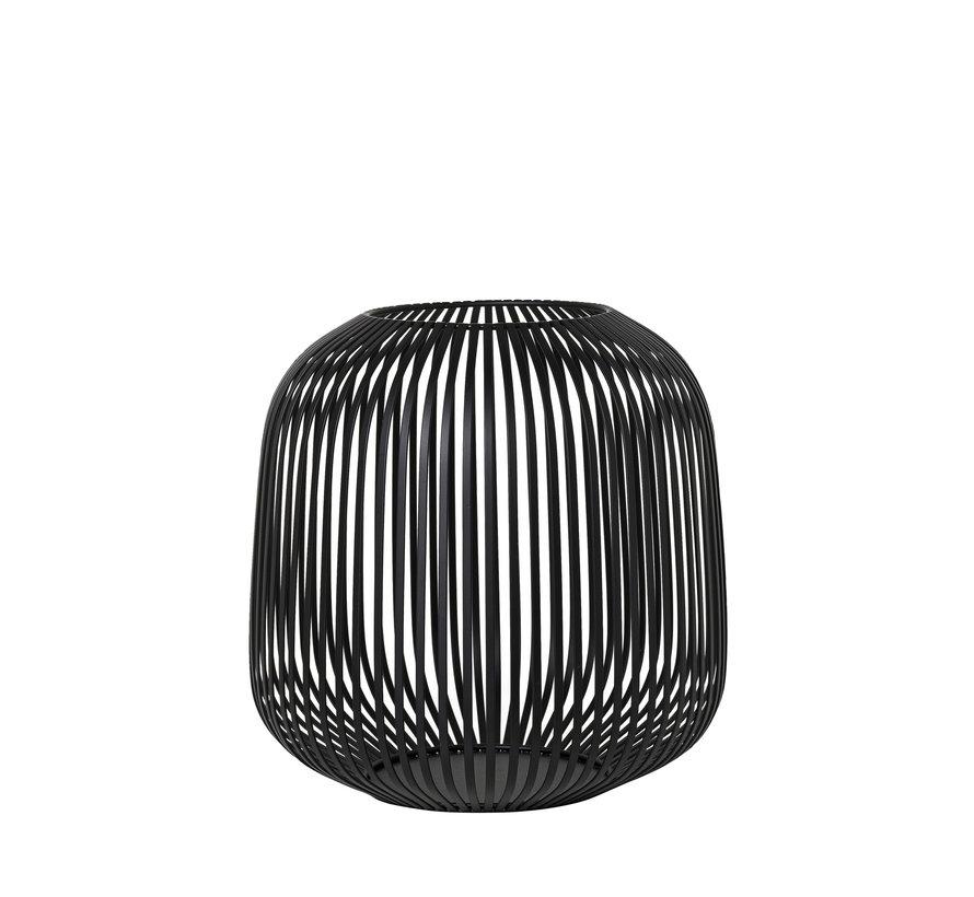 LITO windlight / lantern black steel Ø27.5 cm (65932) Medium