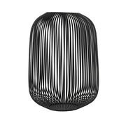 Blomus LITO wind light negro Ø33 cm (Grande)