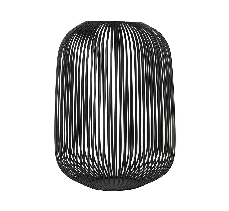 LITO-vindlys / lykter sort stål Ø33 cm (65933) Stor