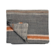 Vandyck PURE 35 plaid / bedspread 180x260 cm Gray-011 (linen)