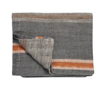 Vandyck PURE 35 plaid / sengetæppe 180x260 cm Grå-011 (linned)
