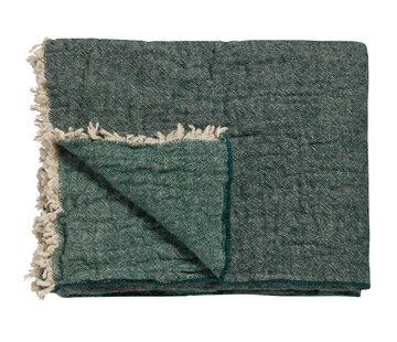 Vandyck HJEM 81 plaid 130x220 cm Mørkegrøn