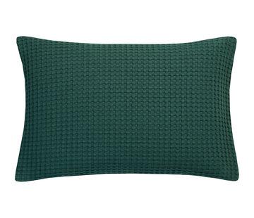 Vandyck HJEM Pique pudebetræk 40x55 cm Mørkegrøn-073