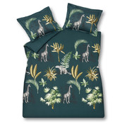 Vandyck Duvet cover WILD THING Dark Green 140x220 cm (satin cotton)