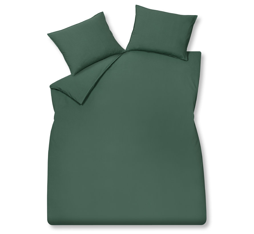 WASHED COTTON duvet cover 140x220 cm Dark Green (cotton)