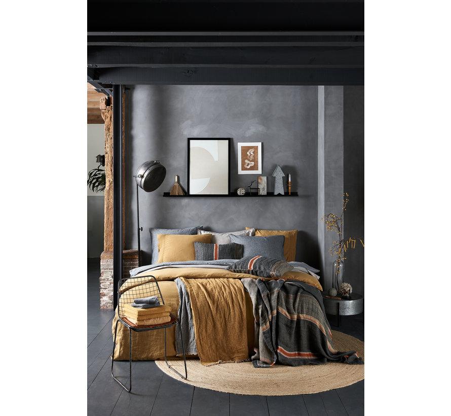 Duvet cover PURE 07 Cool Gray 140x220 cm (linen / satin cotton) PRSA17207