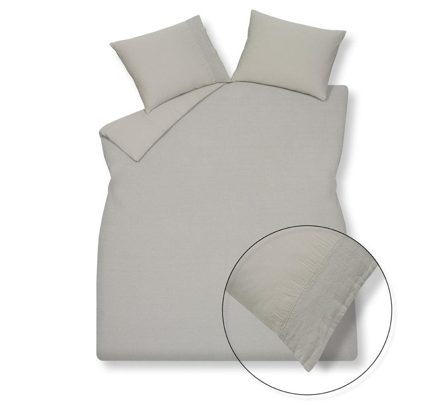 Duvet cover PURE 07 Cool Gray 240x220 cm (linen / satin cotton) PRSA17207