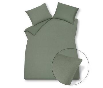 Vandyck Duvet cover PURITY 79 Olive 140x220 cm (linen / cotton)