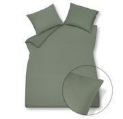 Vandyck Duvet cover PURITY 79 Olive 240x220 cm (linen / cotton)