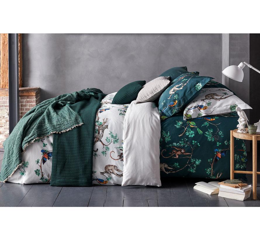 Dynebetræk FORREST LOVE Mørkegrøn 140x220 cm (satin) SAM219227