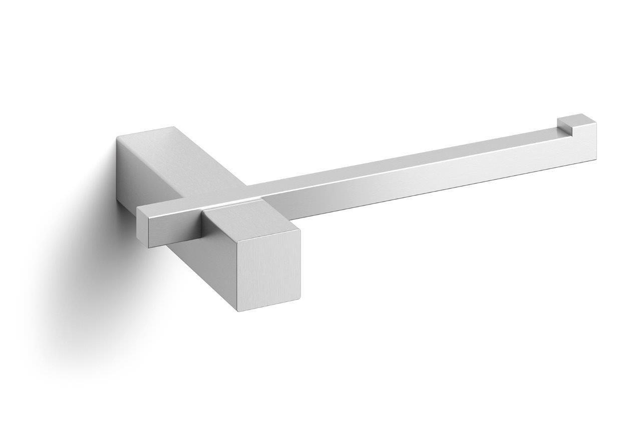 Zack Carvo Toilet Roll Holder Wall Mounted Brushed Stainless Steel Matt 40480 Bath Living