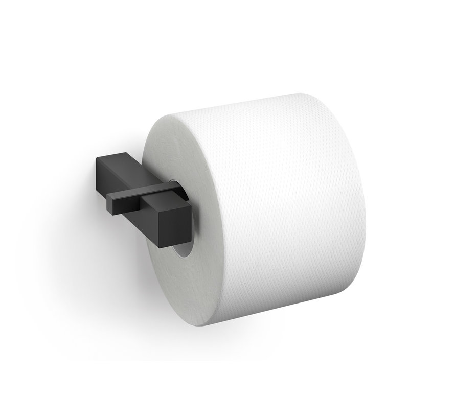 Porta rollos de papel higiénico CARVO montado en la pared 40500 (negro)