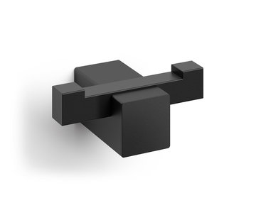 ZACK CARVO håndklædekrog dobbelt (sort)