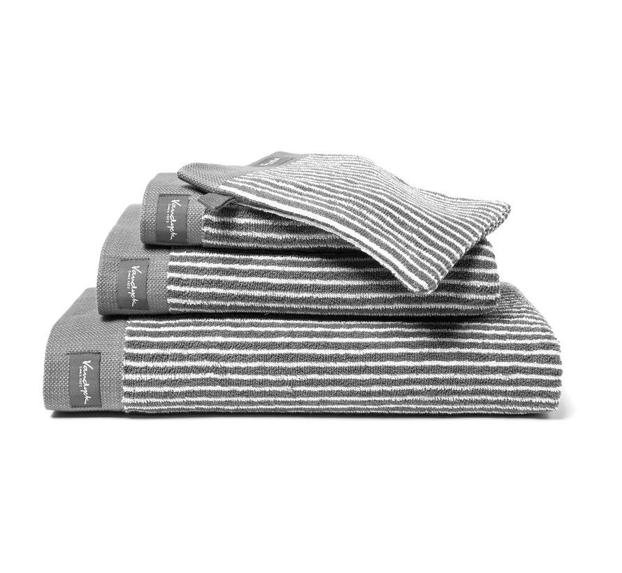 Handdoek HOME Petit Ligne kleur Mole Grey (BAKC15101)