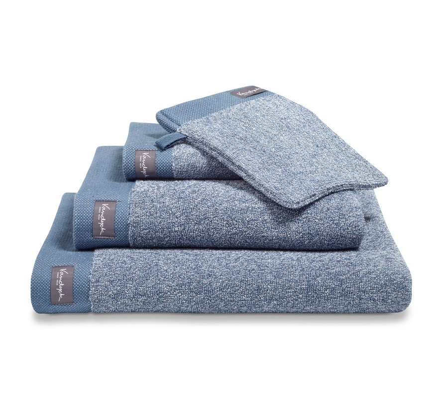 Håndklæde HOME Mouliné farve Vintage Blue (BAKC18201)