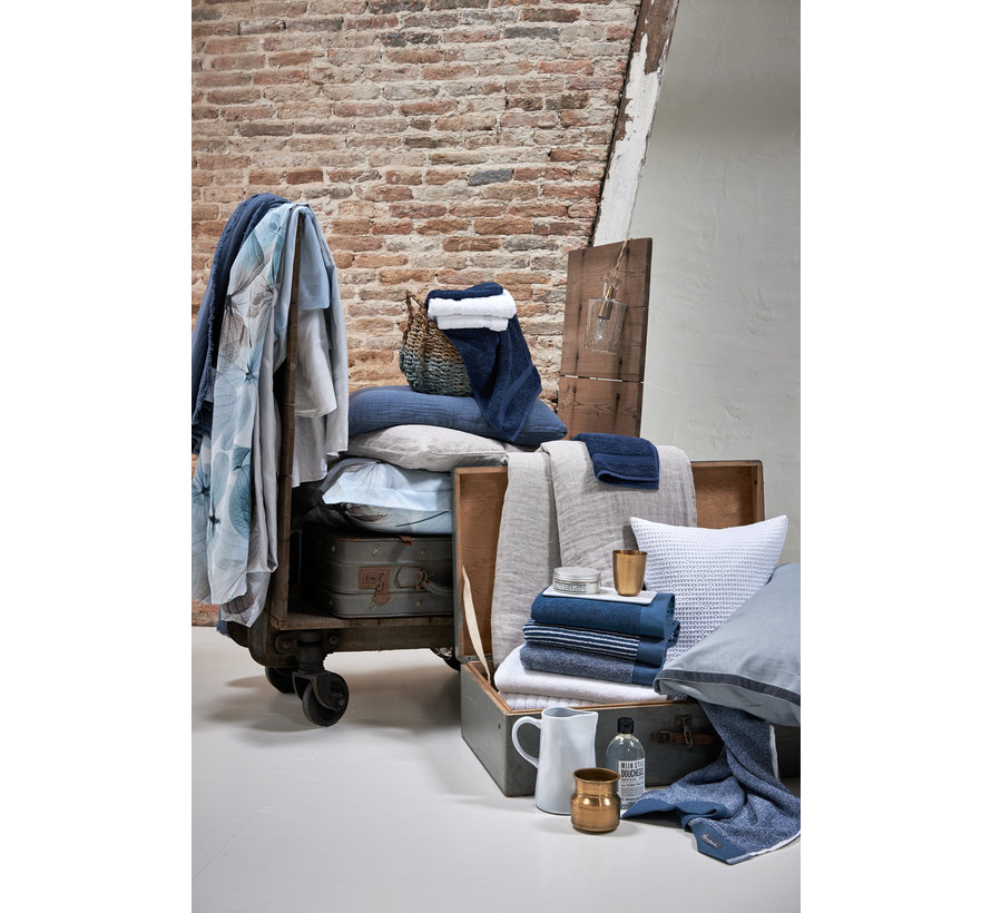 Handdoek HOME collection Uni Vintage Blue (BAKC13202)