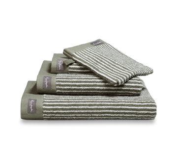 Vandyck Towel HOME Petit Ligne Olive