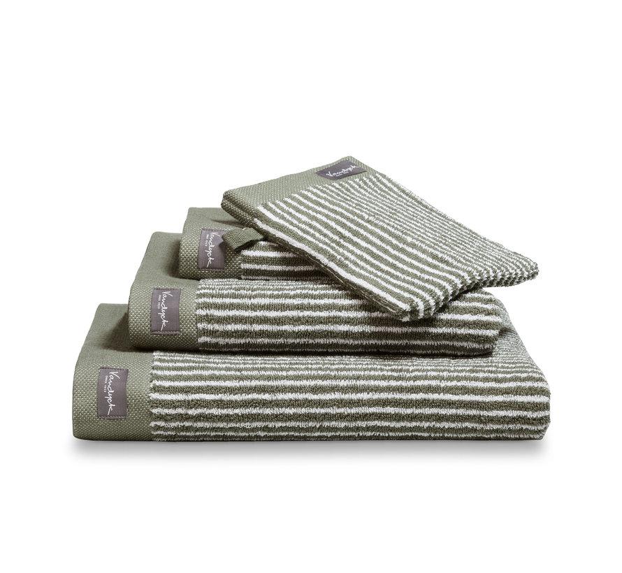 Håndklæde HJEM Petit Ligne farve Oliven (BAKC15101)