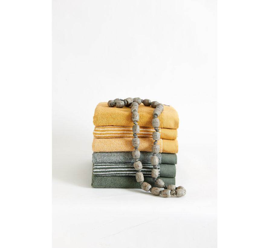 Handdoek HOME Mouliné kleur Honey Gold (BAKC18201)