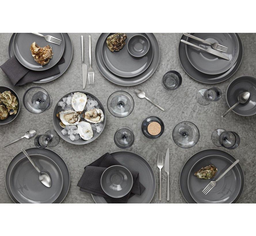 RO flacher Teller 27 cm Trauertaube (64021) Set / 4
