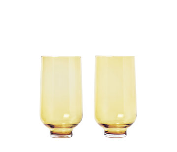 Blomus FLOW Longdrinkgläser Dull Gold (Set / 2)
