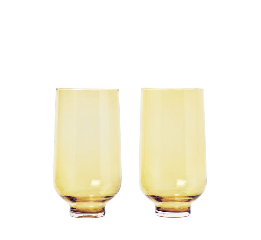 Conjunto de vasos de bebida larga FLOW color Dull Gold (63922) / 2