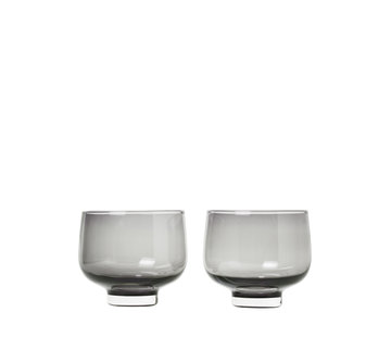 Blomus FLOW drinkglazen Smoke (set/2)