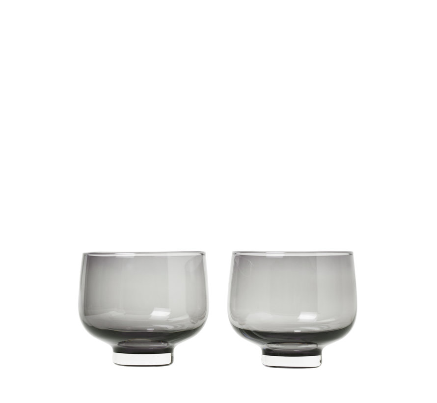 FLOW drinkglazen kleur Smoke (63918) set/2