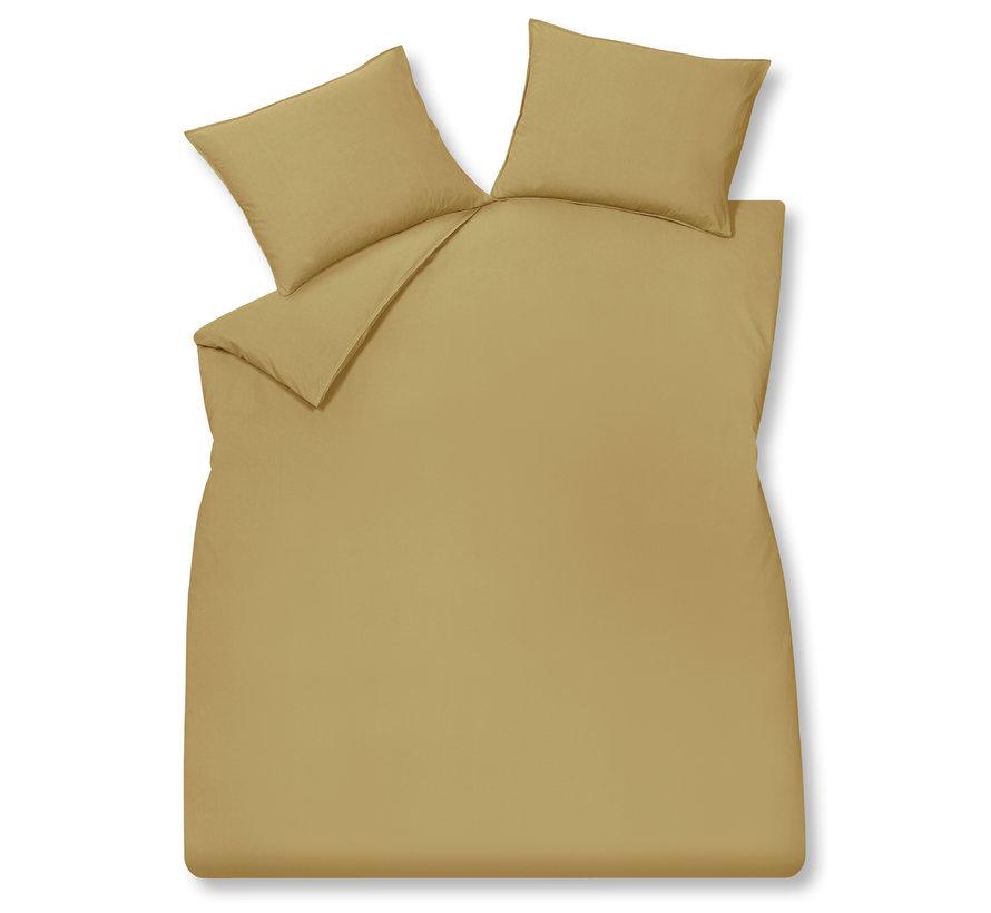 WASHED COTTON dekbedovertrek 140x220 cm Honey Gold (katoen)