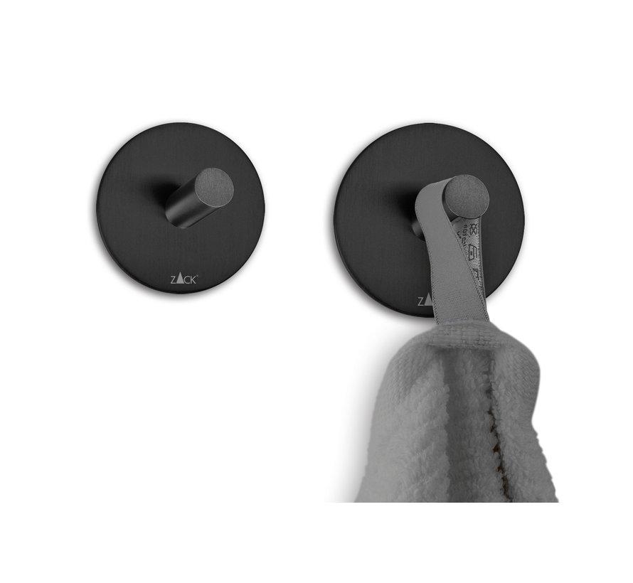 DUPLO Handtuchhaken selbstklebend Set / 4 (schwarz)