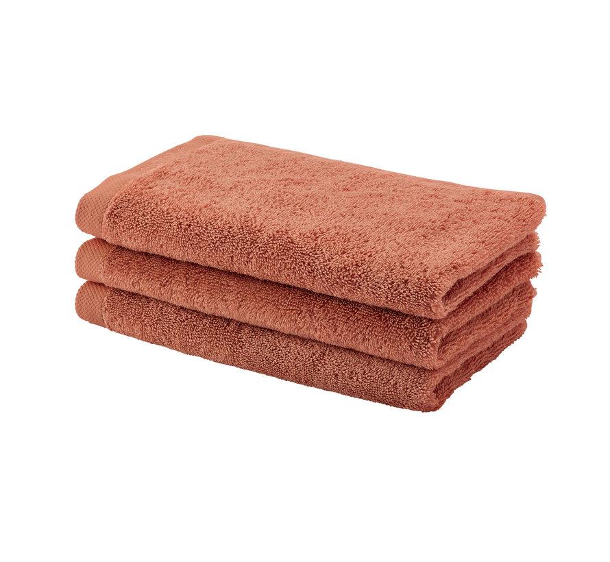 Gæst håndklæde LONDON farve abrikos-193 sæt / 6 stk