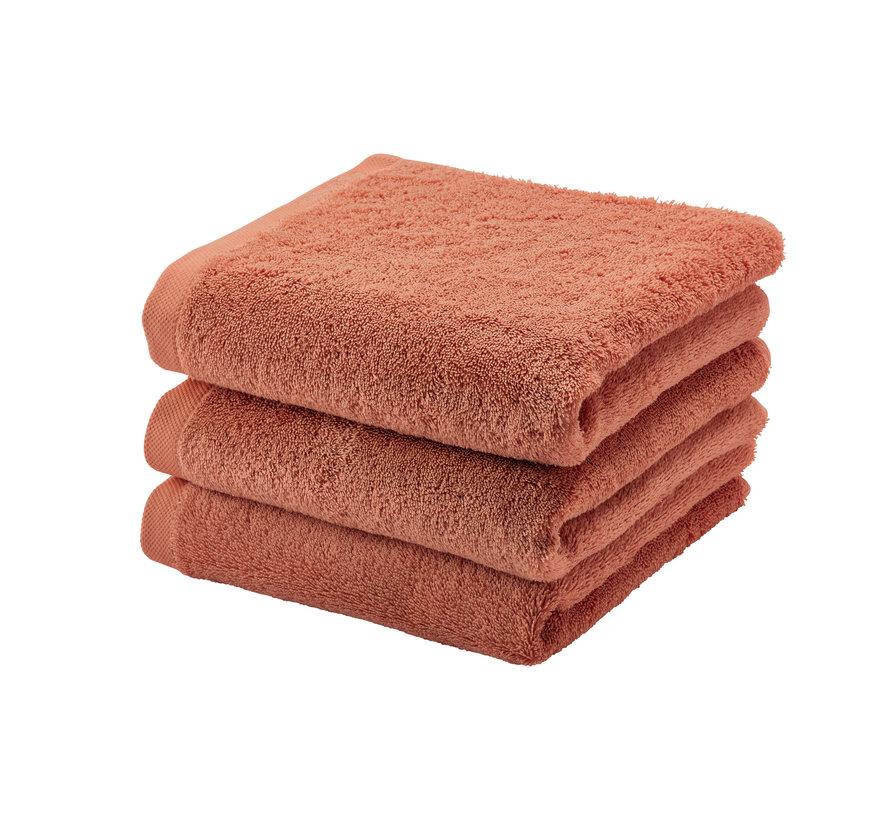 Handdoek LONDON kleur Apricot-193 (55x100cm)  set/3 stuks