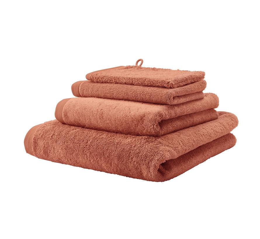 LONDON håndklæde farve abrikos-193 (55x100 cm) sæt / 3 stk