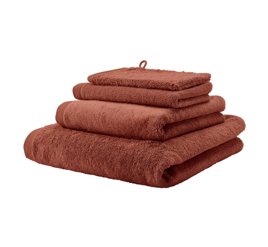 Håndklæde LONDON farve Brandy-203 (55x100cm) sæt / 3 stk
