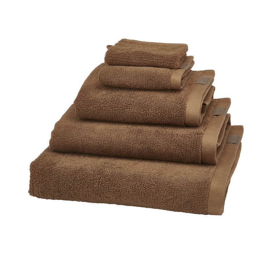 Badehåndklæde (70x130cm) sæt / 3 OSLO farve Cinnamon-804