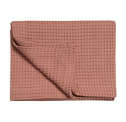 Vandyck HOME Pique waffle blanket 270x250 cm Brick Dust-124