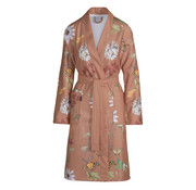 Vandyck Bathrobe CHARLOTTE Brick Dust (butterfly print)