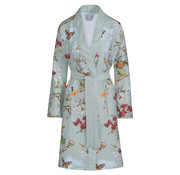 Vandyck Bathrobe CHARLOTTE Blue (butterfly print)