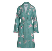 Vandyck Bathrobe DAKOTA Ocean Blue (floral print)