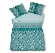 Vandyck Duvet cover UNLOCK Mint Green 240x220 cm (satin cotton)