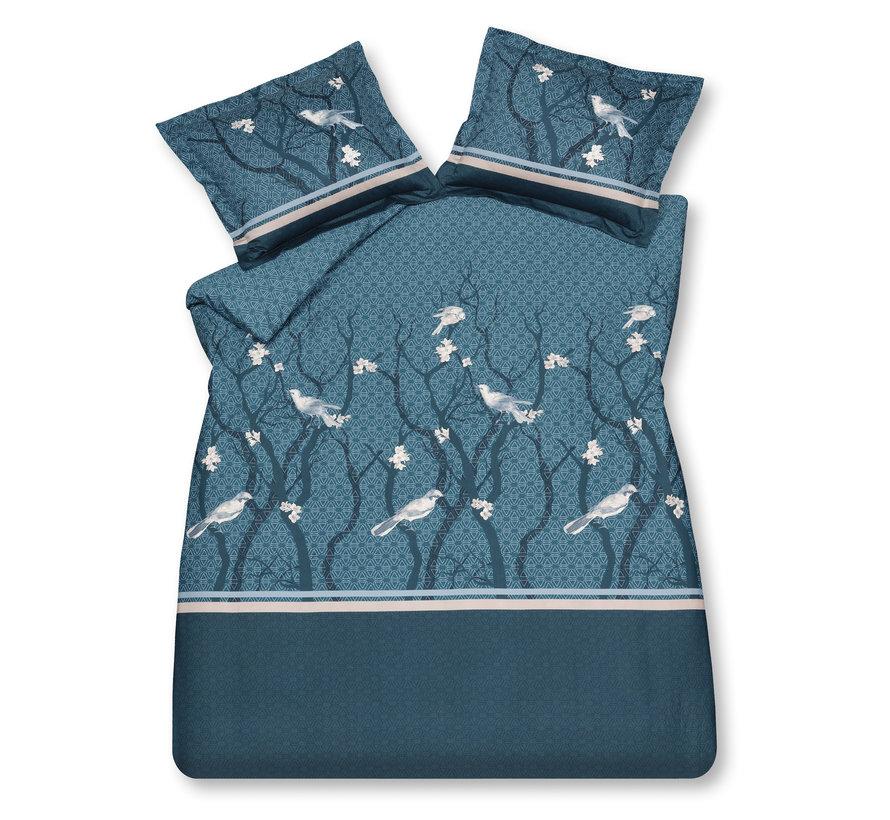 Bettbezug SMALL BIRDS Pariser Blau 200x220 cm (Satin) SABR20103