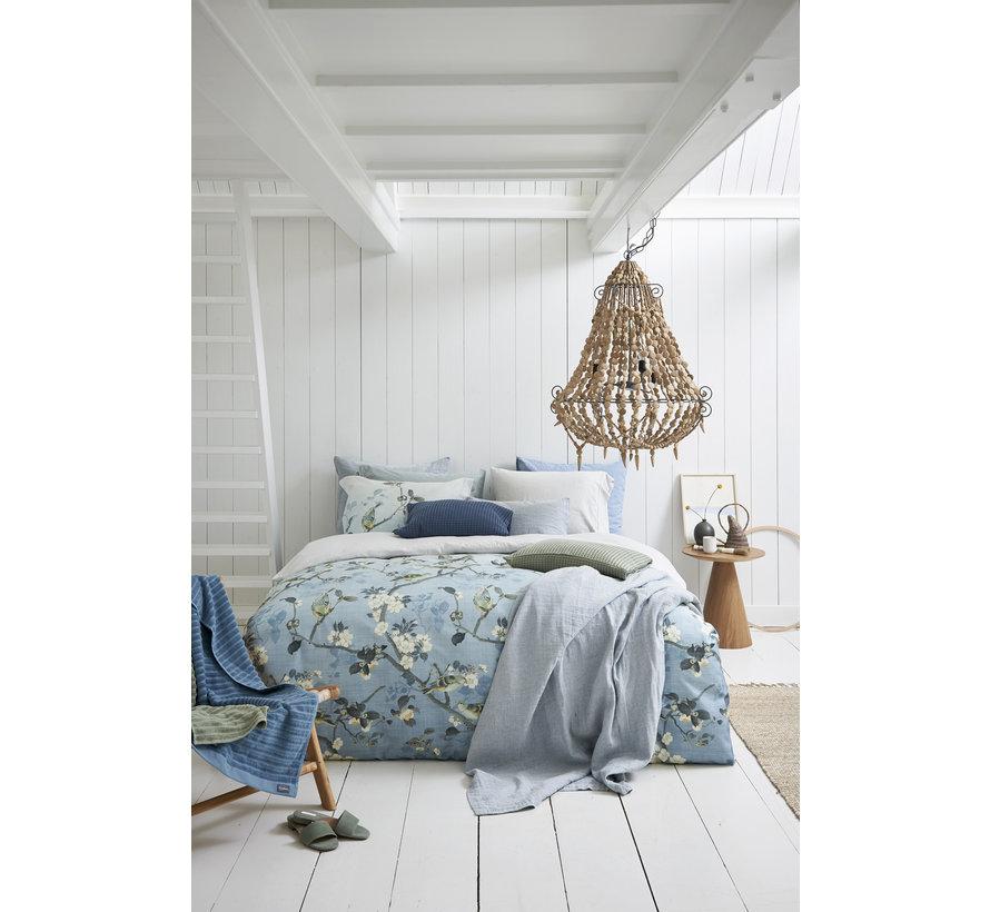 Bettbezug UNBEDINGT Staubblau 200x220 cm (satiniert) SAS220108