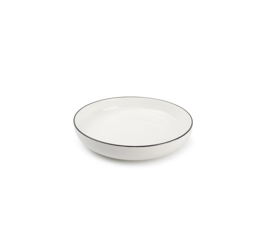 STUDIO BASE dyb plade 21,5 cm hvid (sæt / 4) 850005