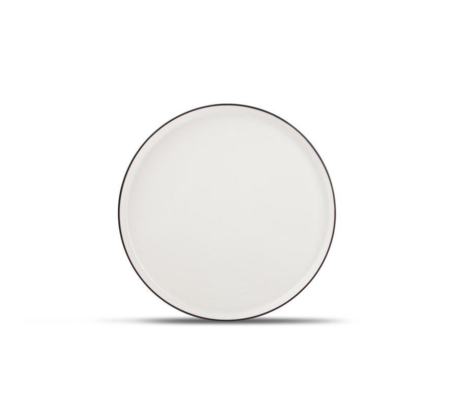 STUDIO BASE flad plade 27 cm hvid (sæt / 4) 850001