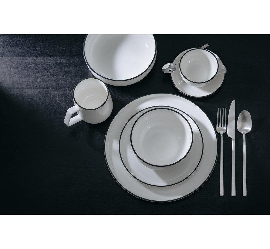 STUDIO BASE flat plate 27 cm white (set / 4) 850001