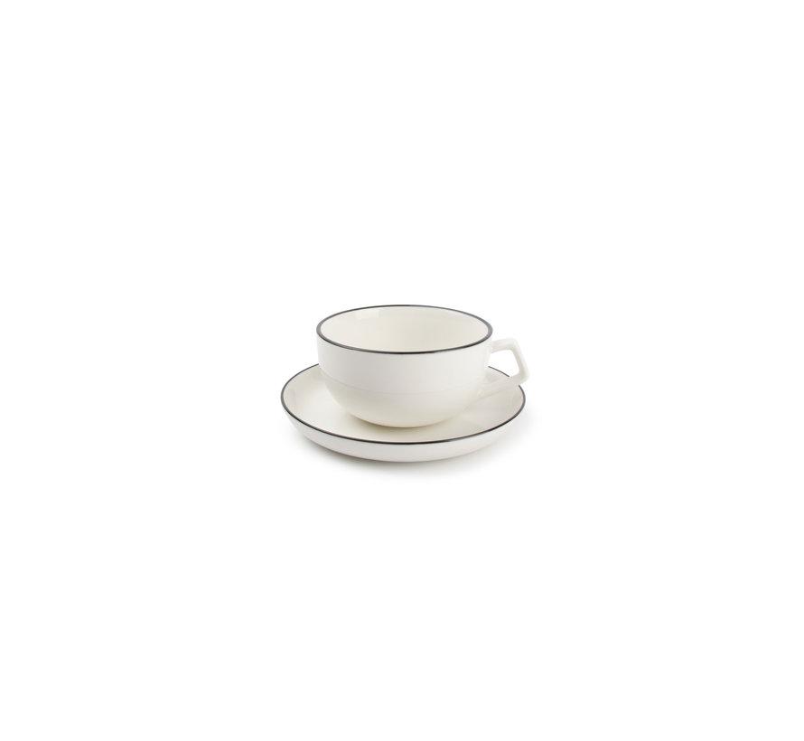 STUDIO BASE Tasse und Untertasse 220 ml weiß (Set / 4) 850015
