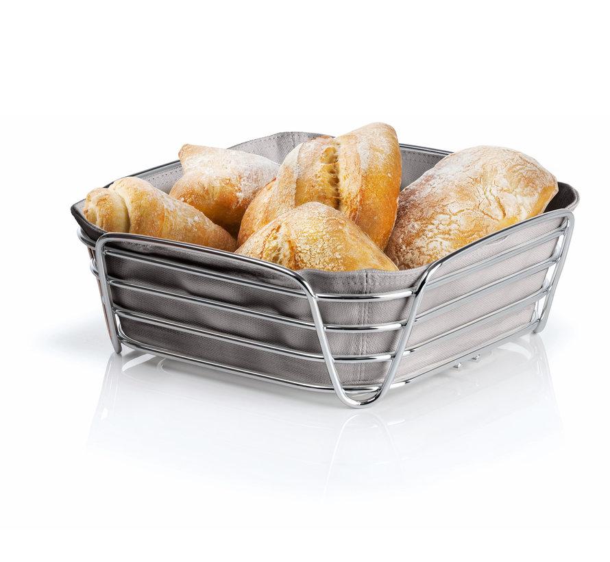 DELARA bread basket 26x26 cm (taupe) 63668