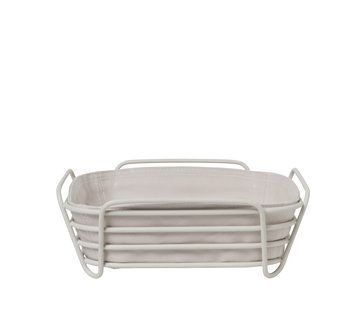 Blomus DELARA bread basket 26x26 cm (Moonbeam)