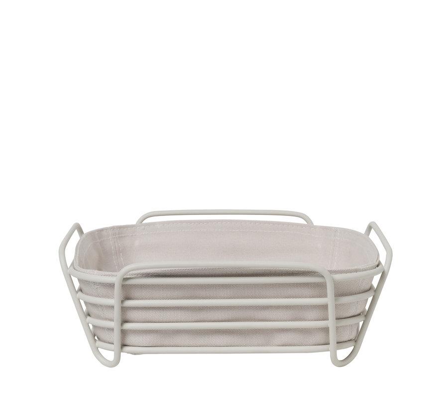 DELARA bread basket 26x26 cm (Moonbeam) 64075
